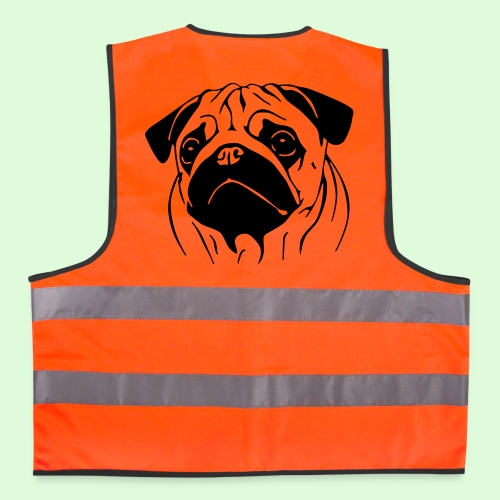 Pug, le Carlin - Gilet de sécurité