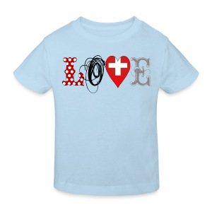 Love Suisse Black - Kinder Bio-T-Shirt