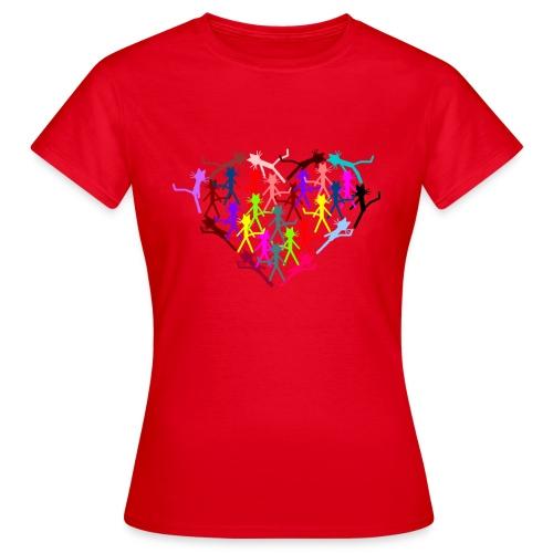 Katzenshirt Kittycat Herz - Frauen T-Shirt