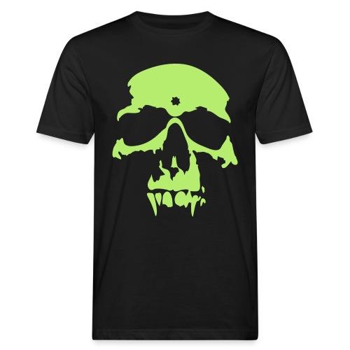 Shirt green skull - Männer Bio-T-Shirt