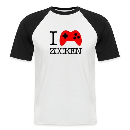 I Love Zocken - Männer Baseball-T-Shirt
