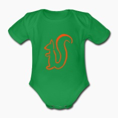 Squirrel Baby Bodysuits