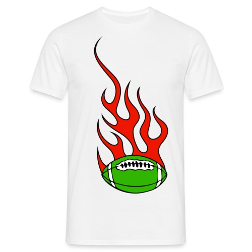t-shirt basque rugby flaming - T-shirt Homme
