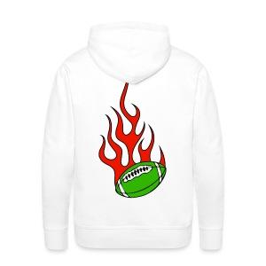 Sweatshirt basque rugby flaming - Sweat-shirt à capuche Premium pour hommes