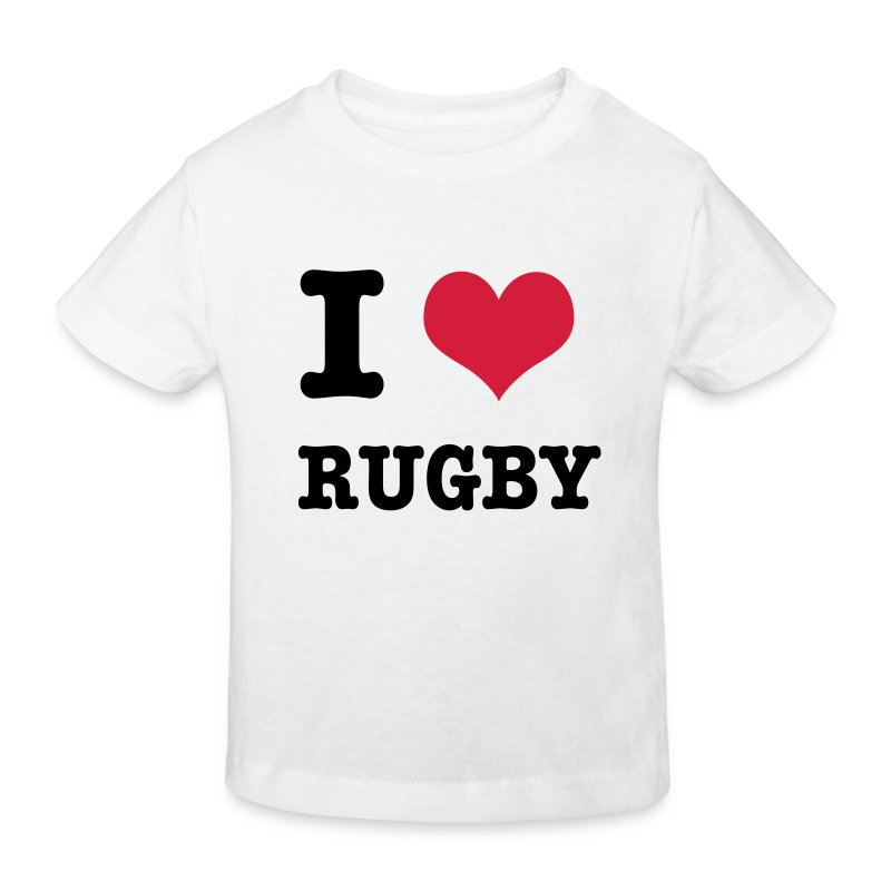 I Love Rugby - Kids' Organic T-shirt