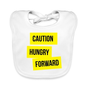 Caution: Hungry Forward - Baby Organic Bib