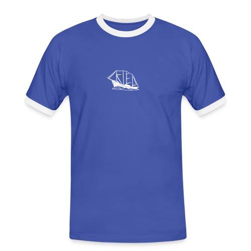 Kiel-Schiff Kontrastshirt - Männer Kontrast-T-Shirt