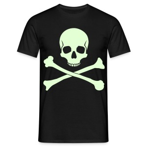 Skull & Cross bones glow in the dark t-shirt - Men's T-Shirt