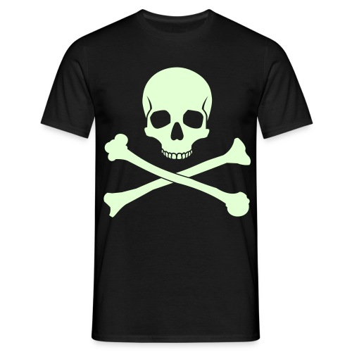 Skull & Cross bones glow in the dark t-shirt - Men's T-Shirt