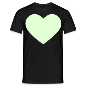 Glow in the dark Heart t-shirt - Men's T-Shirt