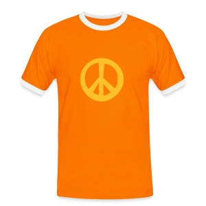 Orange peace. - Men's Ringer Shirt