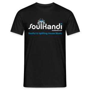 Choose Your Own Colour Tee Shirt (White & Blue Logo) - For Dark Coloured Tee's (Click Details For Options) - Men's T-Shirt