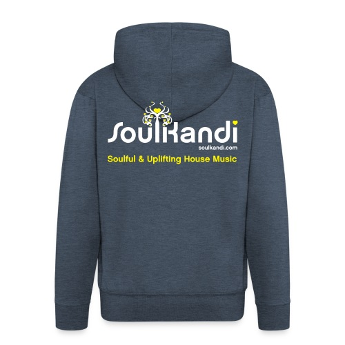 Hoodie with White & Yellow Soul Kandi Tree Logo On Rear (Choose your Colour) - Men's Premium Hooded Jacket