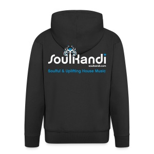 Hoodie with White & Blue Soul Kandi Tree Logo On Rear (Choose Your Colour) - Men's Premium Hooded Jacket