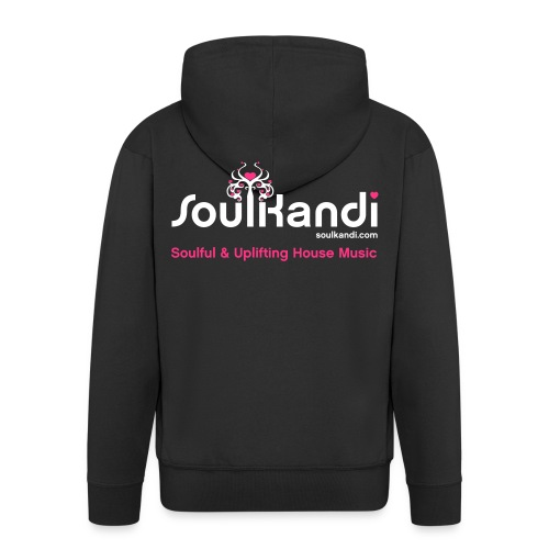 Hoodie with White & Pink Soul Kandi Tree Logo On Rear (Choose Your Colour) - Men's Premium Hooded Jacket