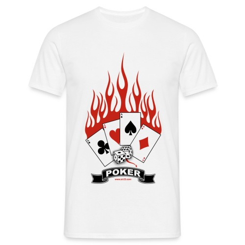 Poker Flammen Herren - Männer T-Shirt