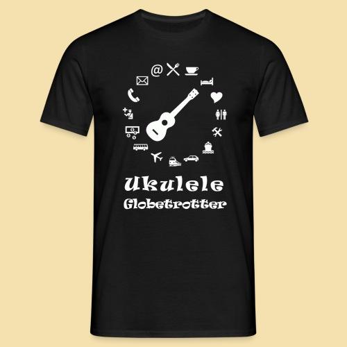 Menshirt: Globetrotter (Motiv: weiß) - Männer T-Shirt