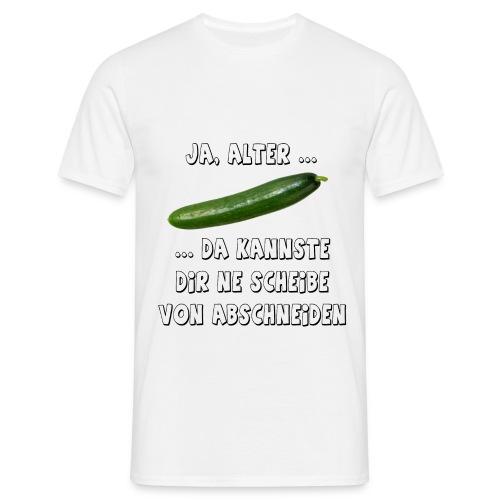 Da kannste dir ne Scheibe von abschneiden - Männer T-Shirt