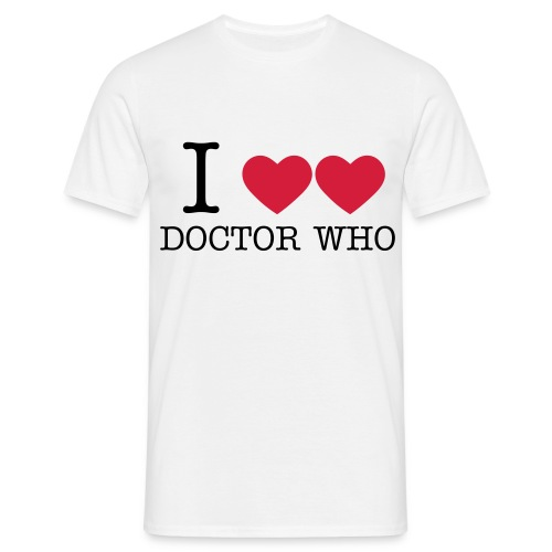 I double heart Doctor Who - Men's T-Shirt
