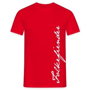 Signatur rød - T-skjorte for menn