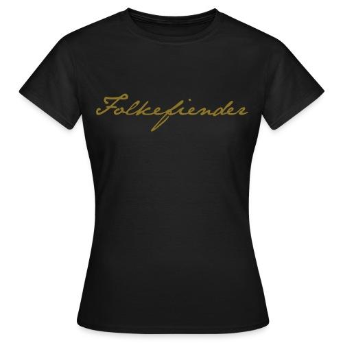 Golden dame - T-skjorte for kvinner