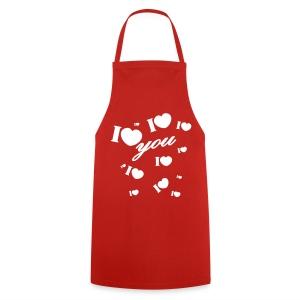 regalo San valentín valentin I love you - Delantal de cocina