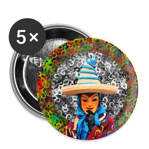 Fasnet - Buttons klein 25 mm (5er Pack)