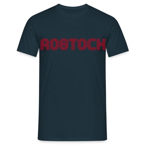 Rostock 70er Schrift T-Shirt - Männer T-Shirt