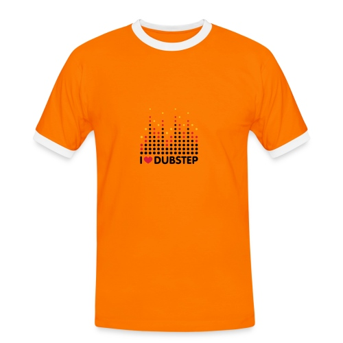 I LOVE DUBSTEP - Dubstep T-Shirt (Kontrast-Shirt) - Männer Kontrast-T-Shirt
