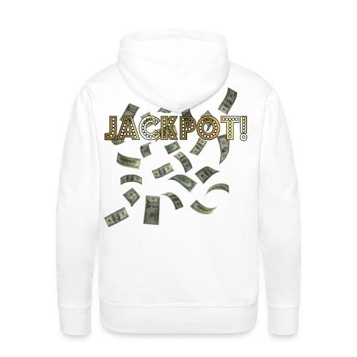 Jackpot! Huppari valkoinen - Miesten premium-huppari