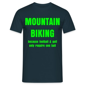 Mountain Biking - one ball - Men's T-Shirt
