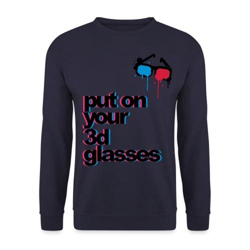 PUT ON YOUR 3D GLASSES SWEATSHIRT! - Men's Sweatshirt