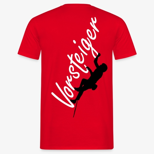 Vorsteiger - rot (men) - Männer T-Shirt