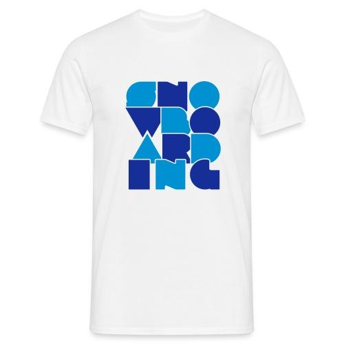 'Letters' Snowboard T-Shirt - Men's T-Shirt