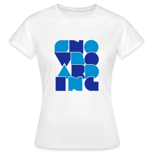 'Letters' Girls Snowboard Top - Women's T-Shirt