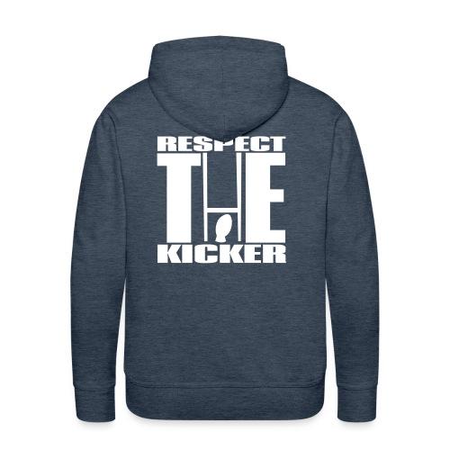 Respect The Kicker Mens Hoodie - Men's Premium Hoodie