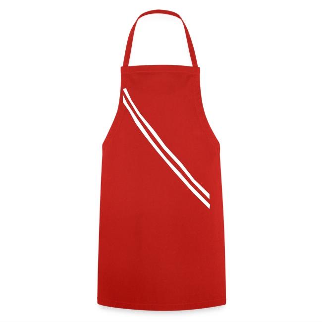 """Grill- und Kochschürze """"Band"""" Rot-Weiß"""