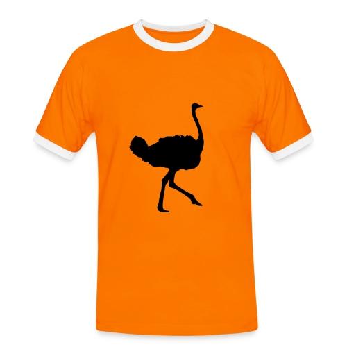 Retro sport sort struds - Herre kontrast-T-shirt