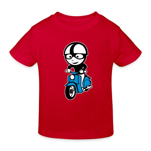 Kindershirt Comic Schwalbenfahrer - Kinder Bio-T-Shirt