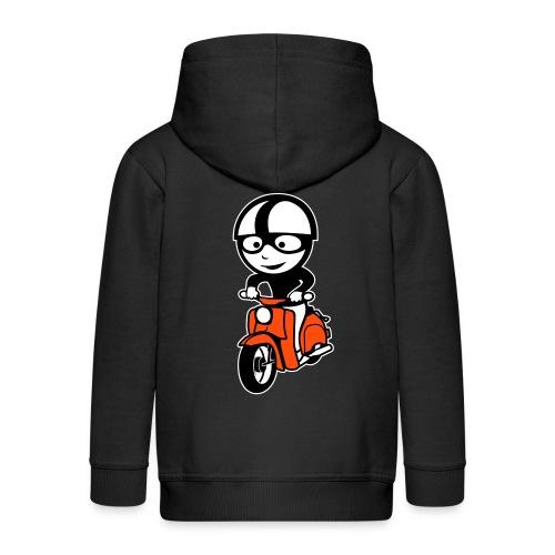 Kinder Kapuzenjacke Comic Schwalbenfahrer - Kinder Premium Kapuzenjacke
