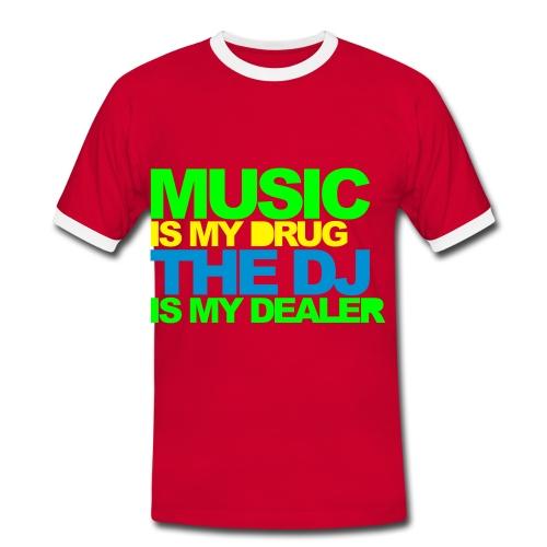 Semarreta Music is my drug.... home. - Camiseta contraste hombre