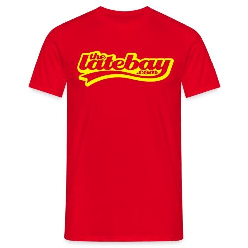 yellow script. (optional) username on back - Men's T-Shirt