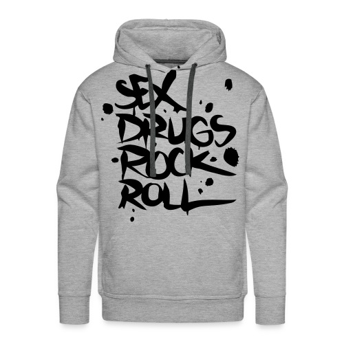 Mannen sweater met capuchon. Sex, drugs, rock, roll. - Mannen Premium hoodie