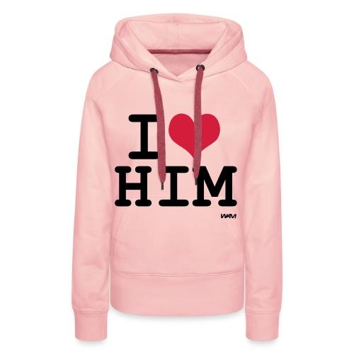 Vrouwen Sweater, met capuchon. I love him. - Vrouwen Premium hoodie