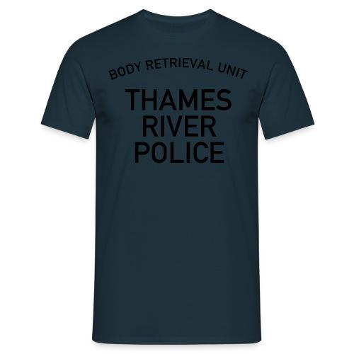 Thames River Police Black/ Blue - Men's T-Shirt