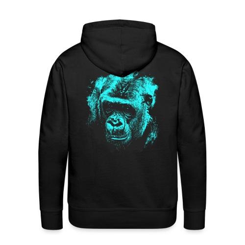 sudadera blue gorilla - Sudadera con capucha premium para hombre