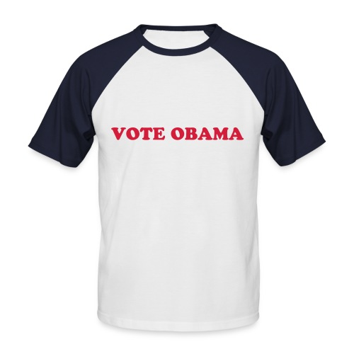 Vote Obama Men's Tee (black) - Men's Baseball T-Shirt