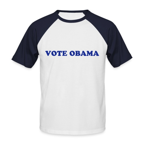 Vote Obama Men's Tee (red) - Men's Baseball T-Shirt