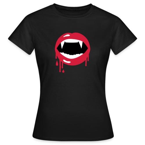 Vampire Fangs shirt - Frauen T-Shirt