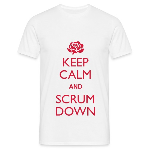England Keep Calm Scrum Down - T - Men's T-Shirt
